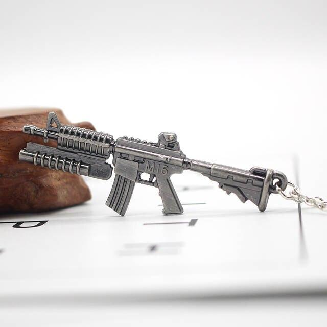 Newest Arrival M60 Machine Gun Pendant Necklaces Trendy Warrior Arms Gun  Model Alloy Pendant Link Chain Necklace For Men