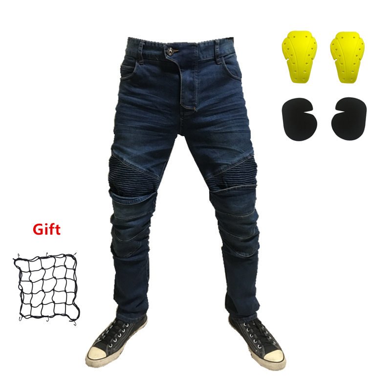 New Motorcycle riding jeans locomotive riding anti-fall jeans Protective gear riding Men and women jeans motorcycle pants цена