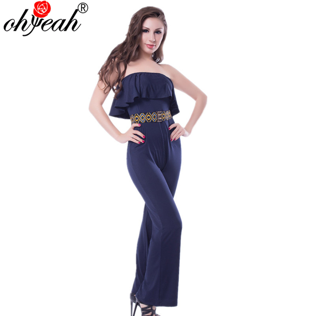 a802cc53c RS79833 Hot sale fashion style Regular Women overalls summer wear Overalls  for women with belt Full