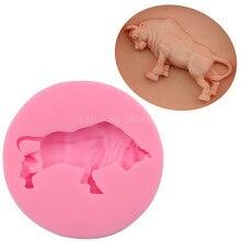 Bullring животное скот бык силиконовая помадка мыло 3D форма для торта, капкейков желе конфеты шоколадное украшение формы для выпечки FQ2196
