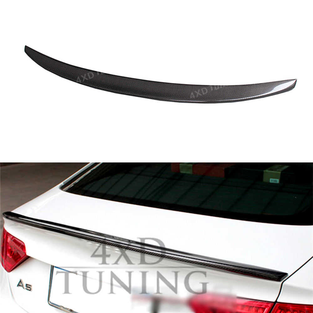 For Audi A5 Carbon Rear Spoiler S5 Style Carbon Fiber Rear Spoiler Rear Trunk Wing Coupe 2-Doors car 2013 2014 2015 2016 2017-ON mercedes carbon fiber trunk amg style spoiler fit for benz e class w207 2 door 2010 2015 coupe convertible vehicles