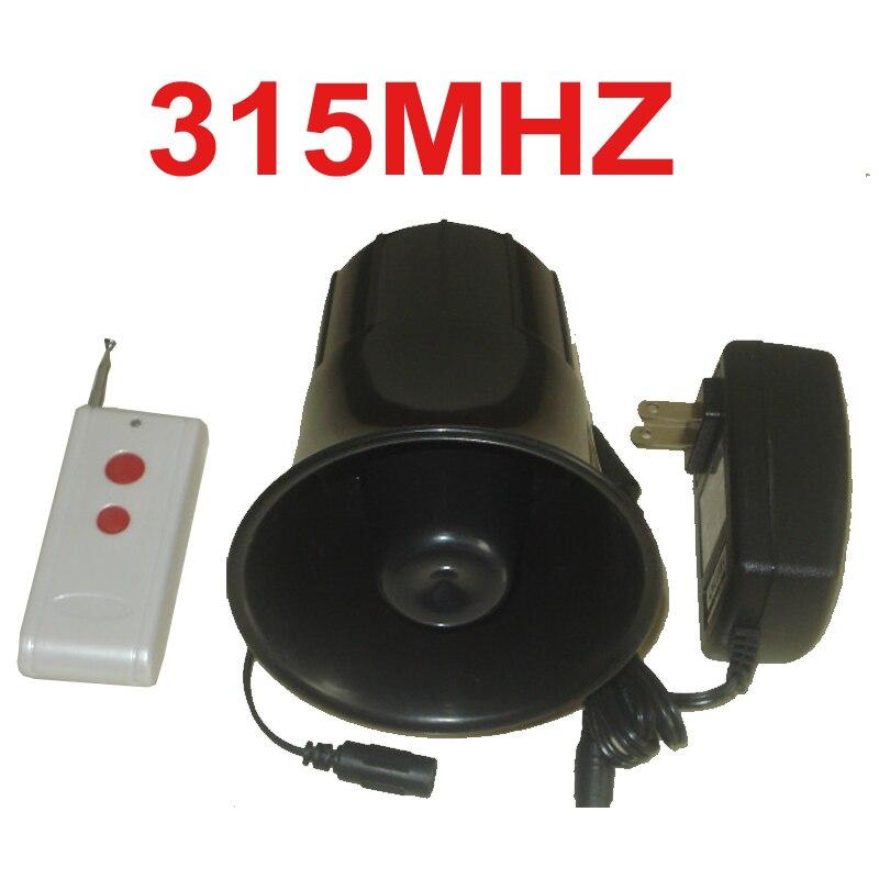 315 mhz sans fil haut-parleur 25 W avertisseur sonore 115dB 200 mètre de travail sans fil haut-parleur corne alarme machine 315 mhz sans fil klaxon haut-parleur