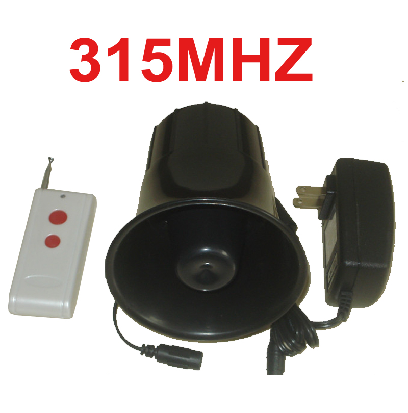 315mhz wireless speaker 25W alarm horn 115dB 200meter working wireless speaker horn alarm machine 315mhz wireless horn speaker horn