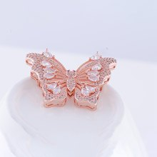 Top Quality Copper Crystal Butterfly Pendants for DIY Women Long Necklaces Accessories Handmade DIY Pearl Jewellery Decoration(China)