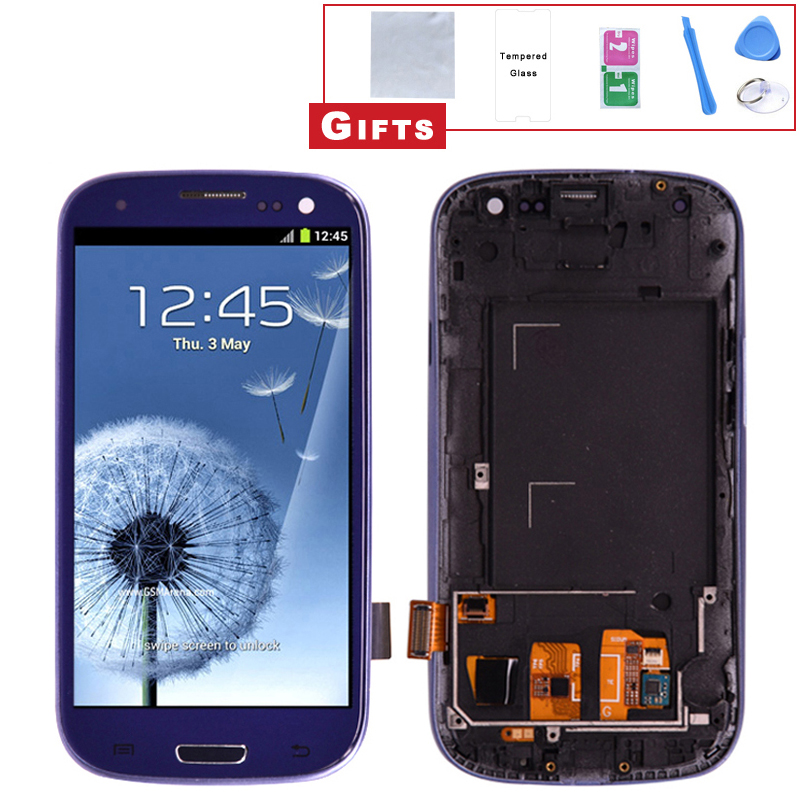 For Samsung Galaxy S3 i9300 LCD Display Touch Screen Digitizer Full Assembly with Bezel Frame and Home BottonFor Samsung Galaxy S3 i9300 LCD Display Touch Screen Digitizer Full Assembly with Bezel Frame and Home Botton
