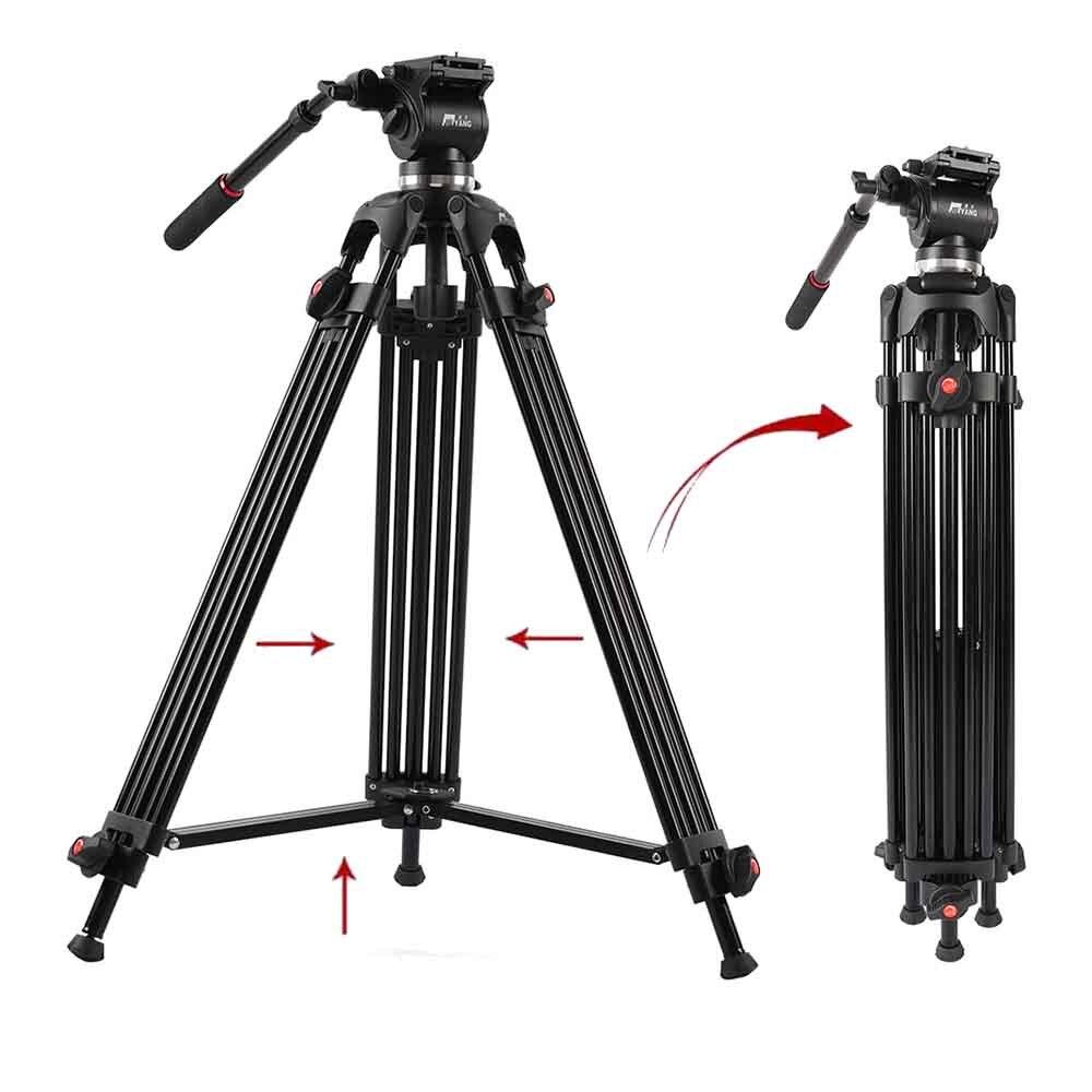 JIEYANG JY0508 Professional Câmera Tripé Cabeça Hidráulica Amortecimento Suporte Para Dslr Fotografia Estúdio De Vídeo Foto Accessiores