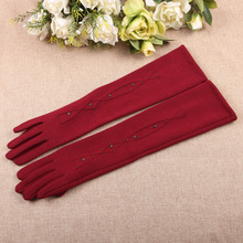 Autumn Winter New Woman Gloves Medium And Long Section Spun Velvet Finger Touchscreen Sleeve Warmers BL024N1