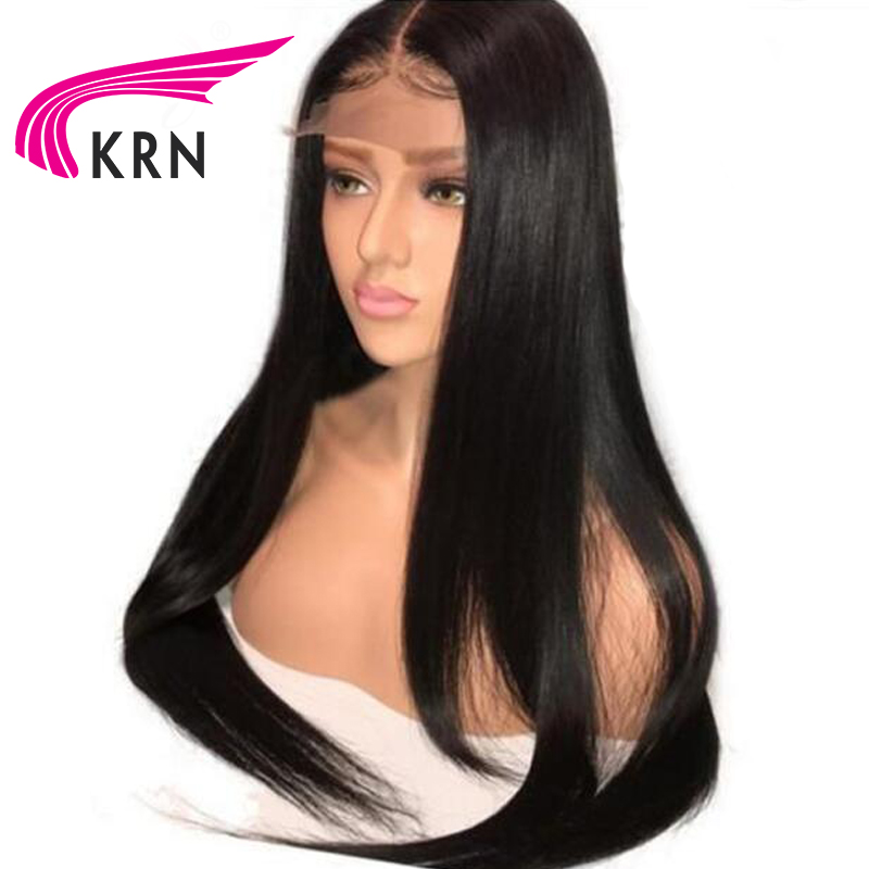 KRN Brazilian Lace Front Human Hair Wigs Remy Hair Straight Wig With Baby Hair Natural Pre