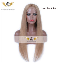 7A 130Density Ombre Brown Lace Front Wig Brazilian Virgin Full Lace Brown Human Hair Wigs Ombre Light Golden Brown Straight Wigs