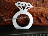 Free Shipping Wedding Decoration Whte Big Size Diamond Ring Props Three Dimensional Letter Wedding Props