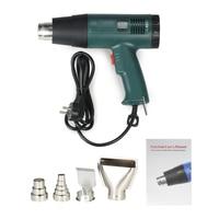 Electric Hot Air Gun Heat Gun Tool Set Good Quality LCD Digital Temperature controlled with 4pcs Nozzles 1800W AC220V tools