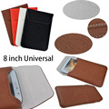 Leather Case Cover For ipad mini 1 2 3 case For Samsung Tab 8.0 Universal 8 inch Tab Bag Pocket Purse Envelop Flip Pouch Gifts