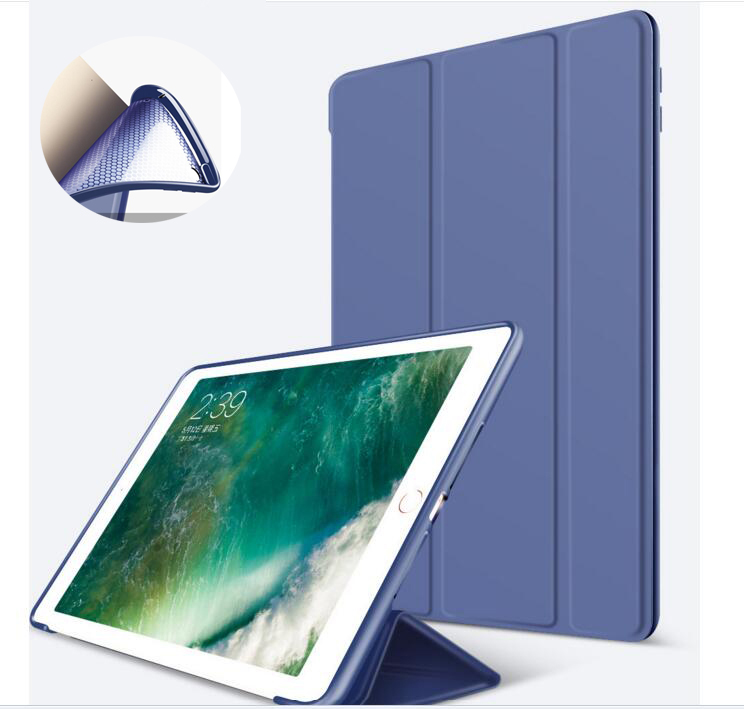 Nice tpu silicone soft back smart PU leather case for apple ipad air 1 cover slim