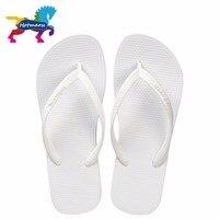 Hotmarzz Women Summer Beach Sandals Slim Flip Flops White Rubber Slippers Designer Brand Shoes Slides House