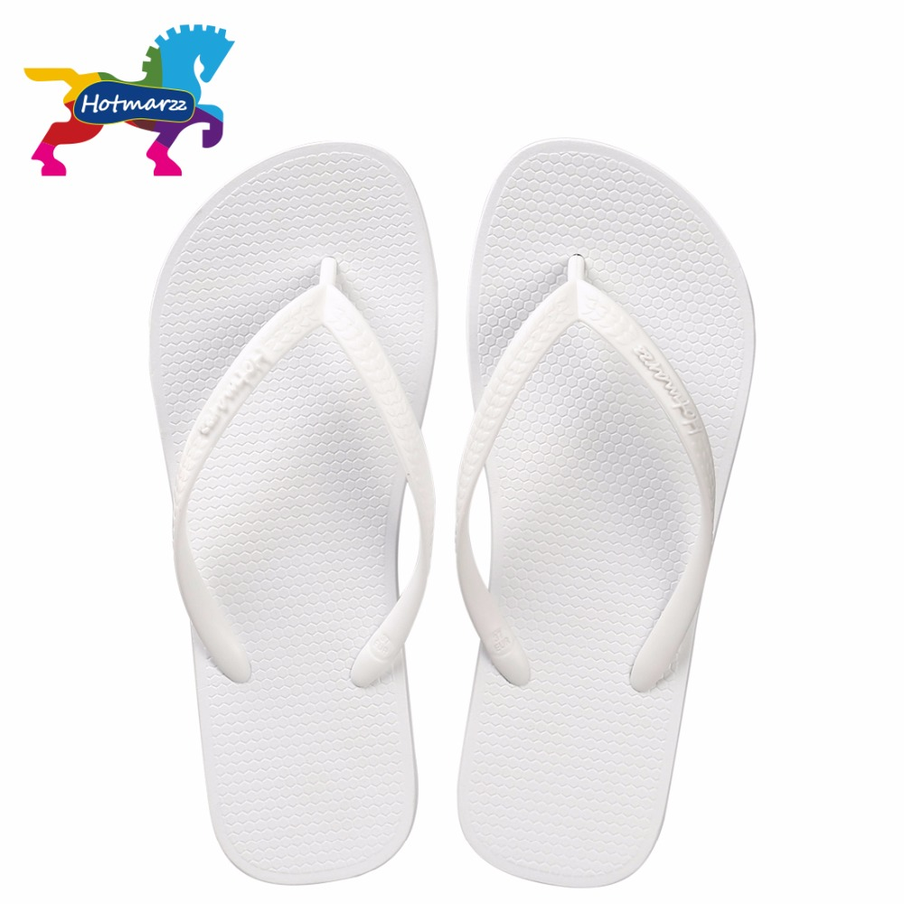 Hotmarzz Women Summer Beach Sandals Slim Flip Flops White -9418