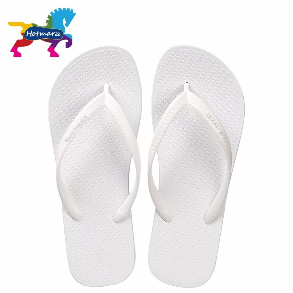 White Rubber Flip Flops