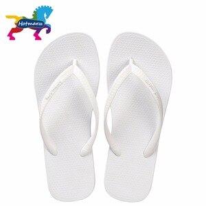 Image 1 - Hotmarzz Women Summer Beach Sandals Slim Flip Flops White Rubber Slippers Designer Brand Shoes Slides  House Pool Slippers