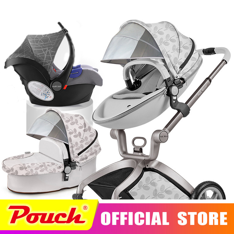 Hot mom baby stroller high landscape portable Baby carriage 3 in 1 collapsible cart strolles