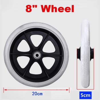 200mm 8 #8222 kółka na kółkach małe wózki na kółkach koła na kółkach akcesoria szara guma małe niebrudzące koło wózka wymienić tanie i dobre opinie NONE CN (pochodzenie) Kółka do mebli SKUB78477