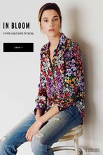 EQ 100% silk colorful daisy print women long sleeve shirt lady equipment silk blouses spring autumn