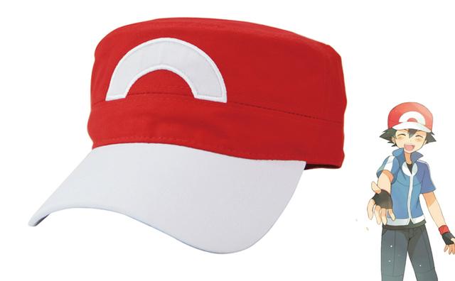 2016 Jogo Go Monstro de Bolso Pokemon Ash Ketchum Cosplay Tranier Chapéu Cap Snapback de Beisebol Ajustável Presente