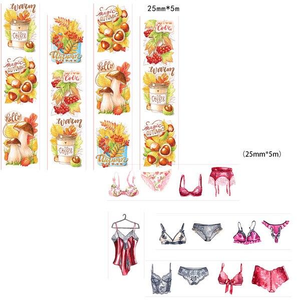 Beautiful 25mm*5m High Quality  Washi Paper  Tape/Beautiful  Harvest Season And Sexy Underwear  Japan Washi Tape