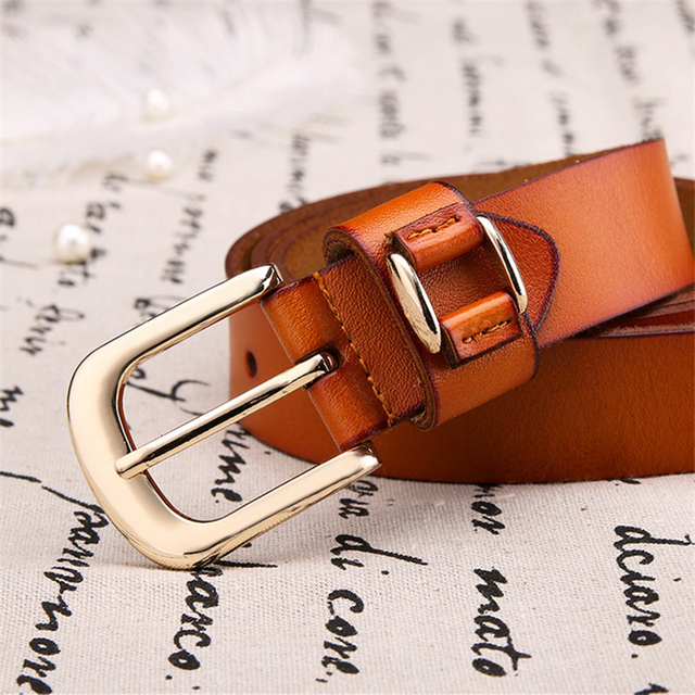 2017 brand new retro casual wild Ms.real Leather Belt Buckle 100% pure leather belt Women jeans belts free shipping