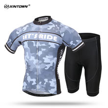 XINTOWN New Summer Short Sleeve Cycling Jersey Set Comfortable MTB Bike Clothing Bicycle Jerseys For Men Maillot Ropa Ciclismo
