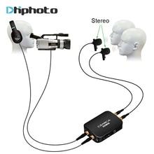 Ulanzi COMICA CVM-D03 Mono/Stéréo Double-tête Cravate Microphone, Smartphone Revers Omnidirectionnel À Condensateur Mic pour iPhone