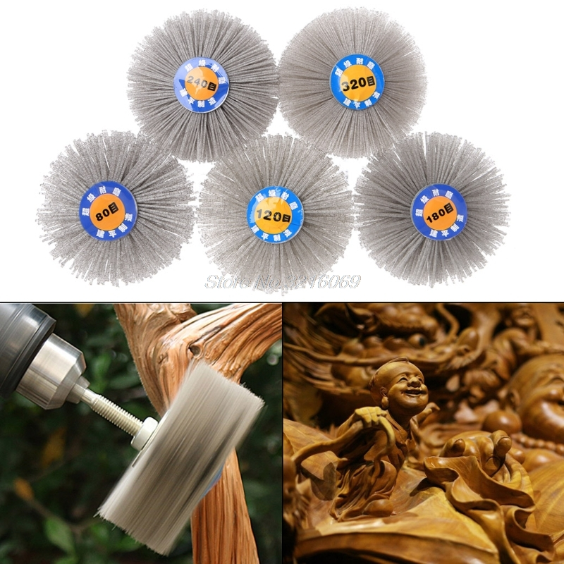 Deburring Abrasive Alumina Wire Brush Flower Head Polish Grind Buff Wheel Shank Aug24 Whosale&DropShip