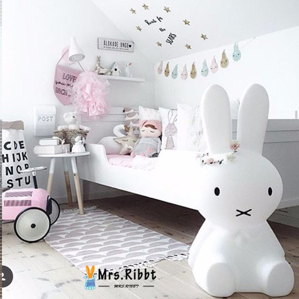 Rabbit Night Light Led Lamp Dimmable for Baby Children Kids Gift Animal Cartoon Decorative Bedside Bedroom Living Room 50CM creative cartoon baby cute led act the role ofing boy room bedroom chandeliers children room roof plane light absorption