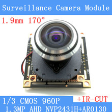 "HD 1.3MP HD mini night vision wide-angle cat surveillance cameras 1/3 ""CMOS 1.9mm manual focus Lens CCTV 960P Camera Module"