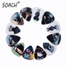 SOACH 10 шт. 3 вида толщины новые медиаторы для гитары бас японского аниме Хатаке Какаши фотографии качество печати аксессуары для гитары