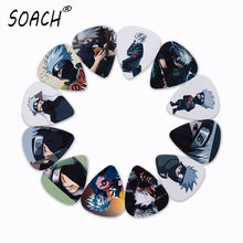 SOACH 10pcs 3 kinds of thickness new guitar picks bass Japanese anime Hatake Kakashi pictures quality print Guitar accessories(China)