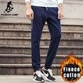 Pioneer Лагерь Осень Зима густой шерсти jogger брюки мужчины марка одежды высокого качества теплые мужские штаны повседневные брюки 699018