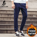Pioneer Camp Autumn Winter thick fleece jogger men pants brand clothing high quality warm male sweatpants casual trousers 699018