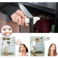 Magnetic Baby Child Cupboard Safety Locks Childproof Magnetic Cabinet Drawer Locks Magnetic Locking System With 4