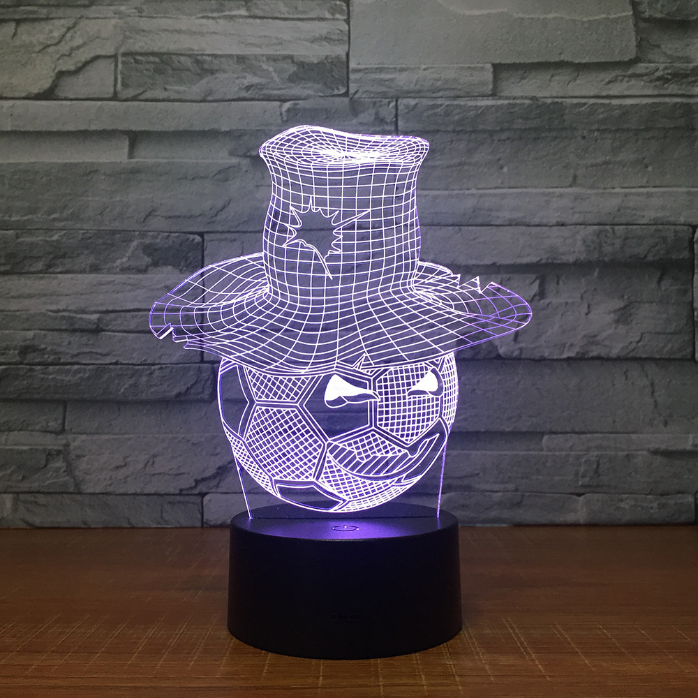 New Halloween Present 3D Smile Football dressing straw hat personality creative LED lamps Fancy strange product send friends A38
