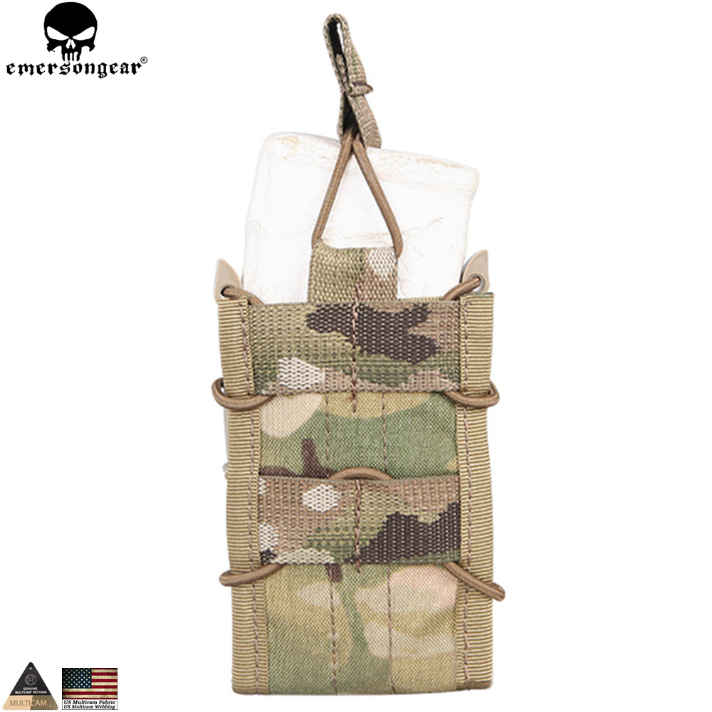 EMERSONGEAR Tactical Single Rifle Mag Pouch Military Army Hunting Utility Multicam Molle Magazine Pouch for M4 M14 AK G3 EM6345