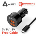 Aukey CC-T6 QC Charger 2.0  USB  Car Charger  Adapter 36W  2.4A For Samsung Galaxy  Galaxy S6 / Edge  Note 5 / 4 for Xiaomi Mi3