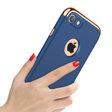 Mocolo Luxury Case For iPhone 7Plus Cover Plating 3-in-1 Phone Bag iphone 7 phone case PC Protector Coque Shell Funda