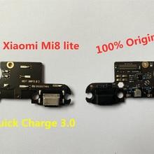 Для Xiaomi Mi 8 lite usb зарядный порт плата зарядного устройства гибкий кабель для Xiaomi Mi 8 lite док-станция Сменные соединительные детали