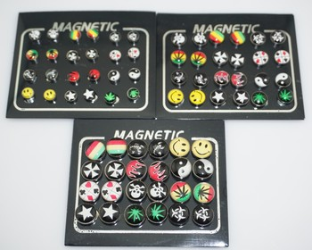 12 Pairs lot 6 8 10mm Punk Mens Strong Magnet Earring Stud Stainless Steel Magnetic No.jpg 350x350 - 12 Pairs/lot 6/8/10mm Punk Mens Strong Magnet Earring Stud Stainless Steel Magnetic No Hole Piercing Earrings Jewelry for Women