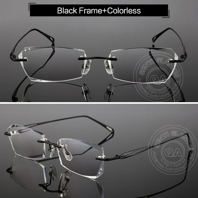 Titanium Frames Rimless Glasses Korean For Men Eyeglasses Luxury ...