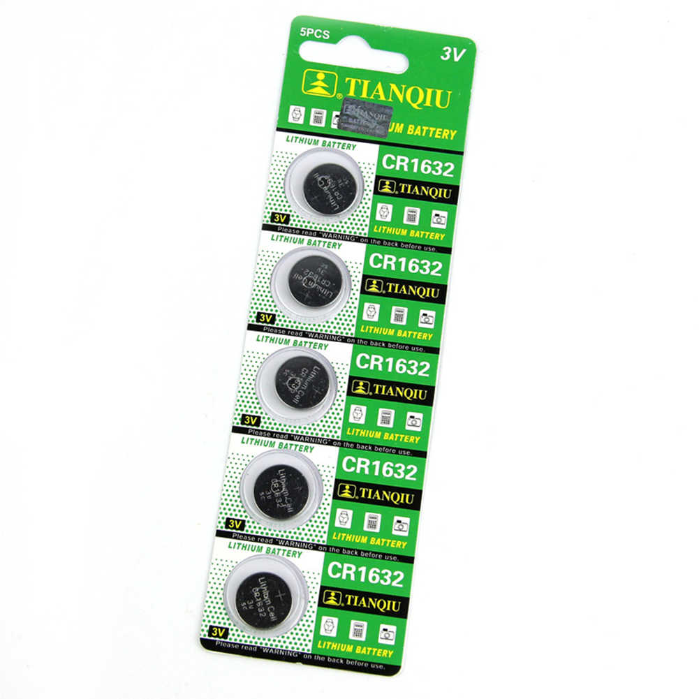 5PCS New Hot Sales CR1632 Button Cell 3V Remote Car Controller Lithium Battery for Calculators Cameras Watches