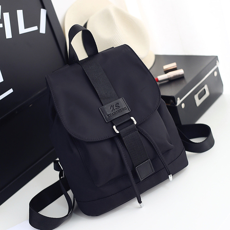 2018 Nylon Fashion Backpacks Women Young Ladies Backpack Girl Student School Bag For Laptop Travel bag Black Mochilas Hot Sale pu line style buckle rhinestone nice womens sandals