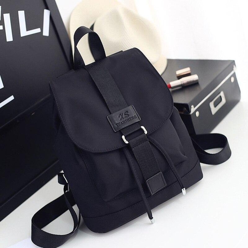 2020 Nylon Fashion  Backpacks Women Young Ladies Backpack Girl Student School Bag For Laptop Travel Bag Black Mochilas Hot Sale