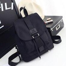 % 2020 naylon moda sırt çantaları kadın genç bayanlar sırt çantası kız öğrenci okul çantası Laptop için seyahat çantası siyah Mochilas sıcak satış