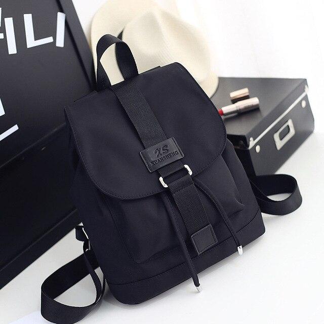 2020 ניילון תרמילי אופנה נשים צעירות גבירותיי תרמיל תלמיד ילדה עבור מחשב נייד נסיעות תיק שחור מוצ ילאס מכירה לוהטת