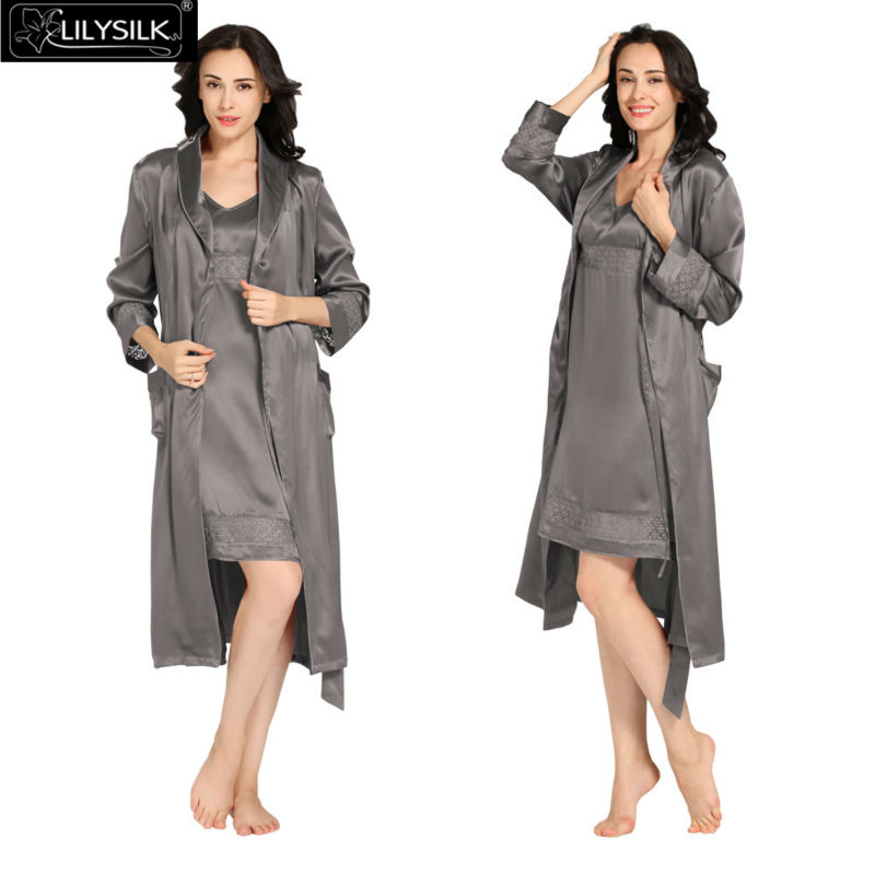 1000-dark-gray-22-momme-luxury-lacey-silk-nightgown--dressing-gown-set
